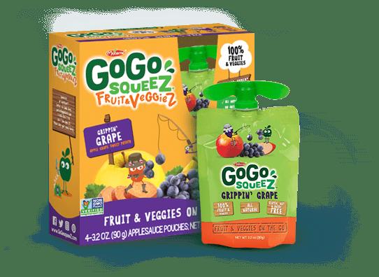 gogosqueez fruit and veggie