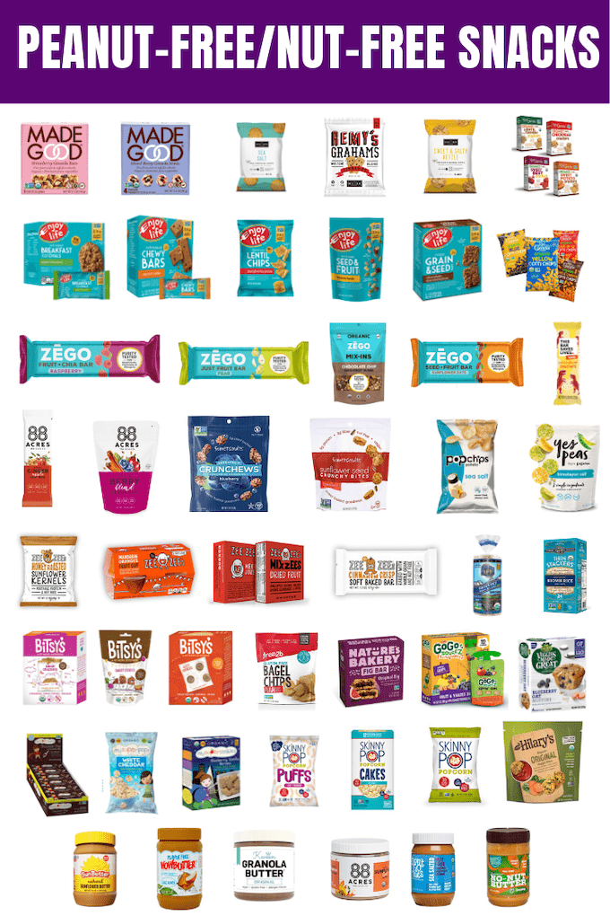 Peanut-free and tree nut-free packaged snacks for schools