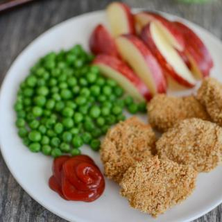 Red Lentil Chicken Nuggets made with lentils and ground chicken