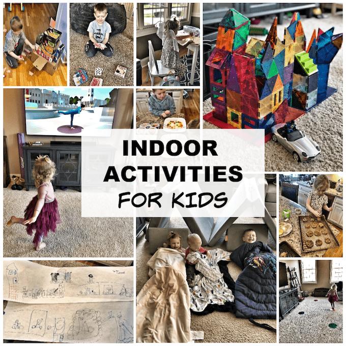 Indoor Activities for Kids from preschool to elementary school