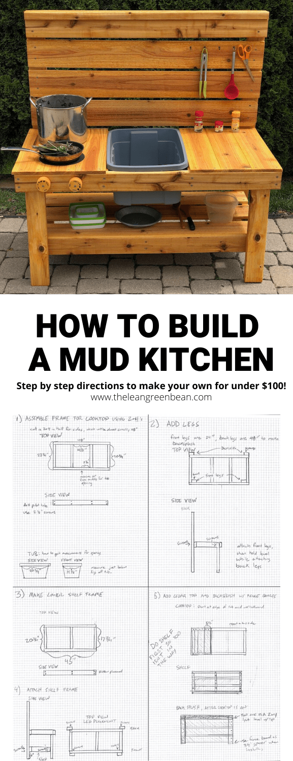 Learn how to build a mud kitchen that's perfect for keeping the kids entertained outside. Here are step-by-step directions for making an outdoor kitchen for under $100. They'll be cooking up nature soup and mud pies in no time.