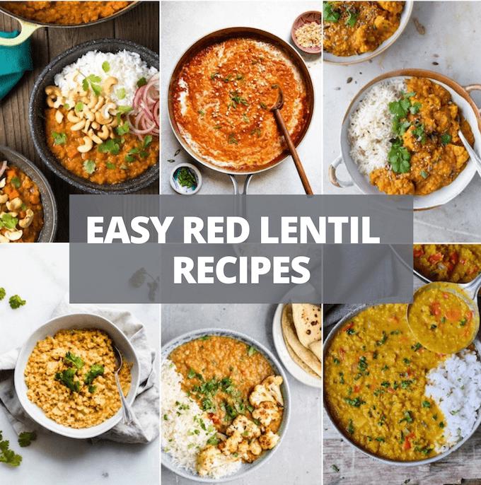 easy red lentil recipes