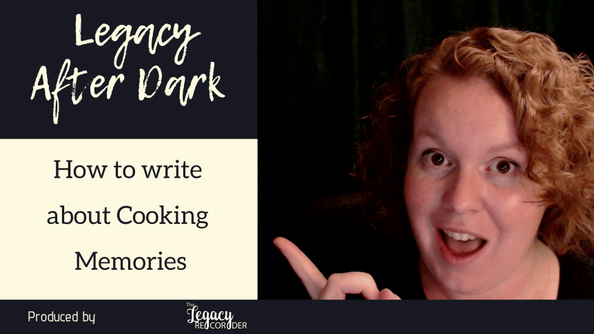 how to write about cooking memories