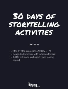 30 Days of Storytelling Activities