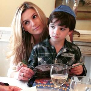My nephew, Asher, and I celebrating Passover