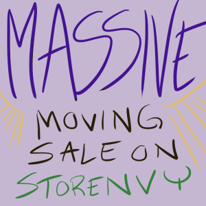 massive moving sale on storenvy