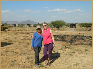 Diana visits with her sponsor in San Benito, 2011.