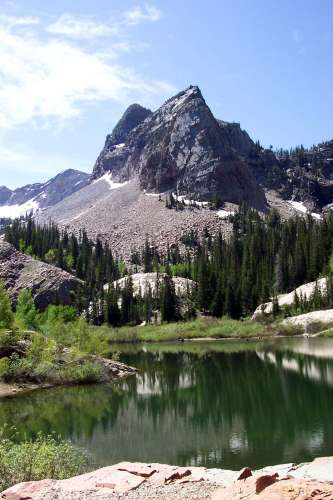 Sundial and Lake Blanche - copyright owned by Brian B.