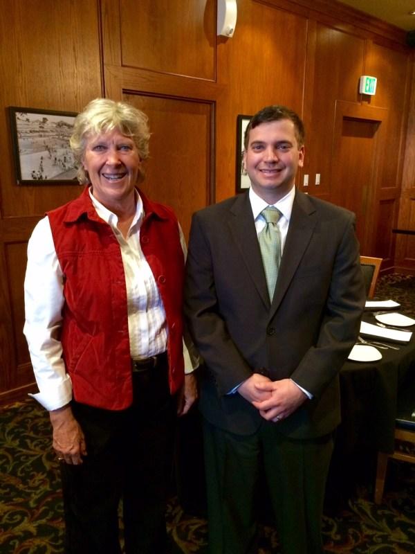 Martha Levacy with portfolio manager Max Corvin
