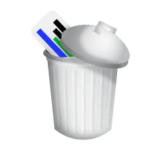 trash can illustration with google adwords ad inside