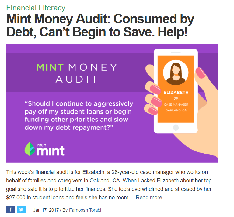 Mint blog solves problems for real Mint users