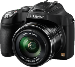 panasonic lumix fz72 camera with transparent background