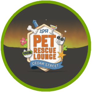 pet rescue lounge event logo