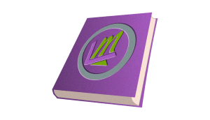 purple book with leverage logo for publications example