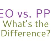 SEO vs PPC concept