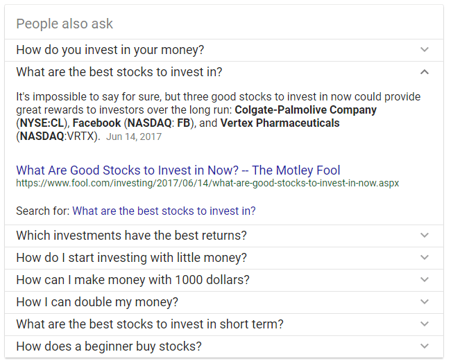 how to invest google question and answer