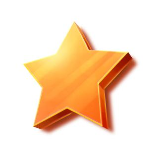 shiny orange google review star