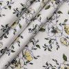 Nemesis White 100% Egyptian Giza Cotton Green & Yellow Floral Printed Shirt Fabric (1.60 M)