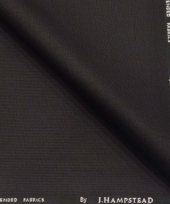 J.Hamsptead by Siyaram's Dark Wine Polyester Viscose Self Strucutred Unstitched Suiting Fabric
