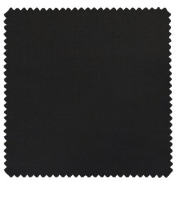 J.Hampstead Italy Men's by Siyaram's Jet Black 20% Merino Wool Super 100's Solid Unstitched Suiting Fabric - 3.75 Meter