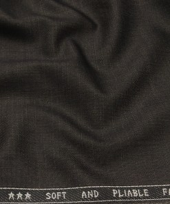 Raymond Men's Poly Viscose Unstitched Self Design Suiting Fabric (Dark Brown)