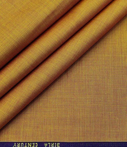 Birla Century Men's Cotton Structured 1.60 Meter Unstitched Shirt Fabric (Honey Orange)