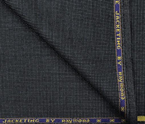 Raymond Men's Wool Structured Thick & Soft Unstitched Tweed Jacketing & Blazer Fabric (Blue)