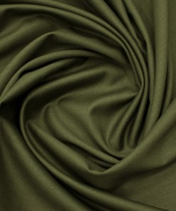 Absoluto Men's Terry Rayon Solids 3.75 Meter Unstitched Suiting Fabric (Olive Green)
