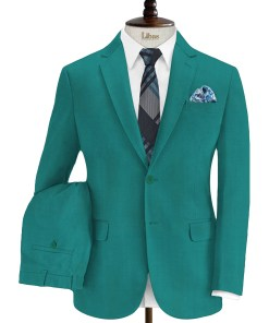 Don & Julio Men's Terry Rayon Solids 3.75 Meter Unstitched Suiting Fabric (Teal Green)
