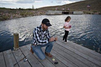 Andy - Daugh fishing