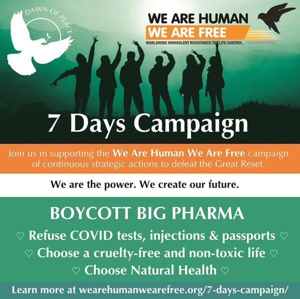 WAHWAF-7Days-Boycott Big Pharma flyer, 13 Aug 2021 – small