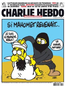 "A Charlie Hebdo cover: ""If Muhammad returned."""