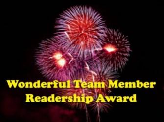 Wonderful Team Member Readership Award