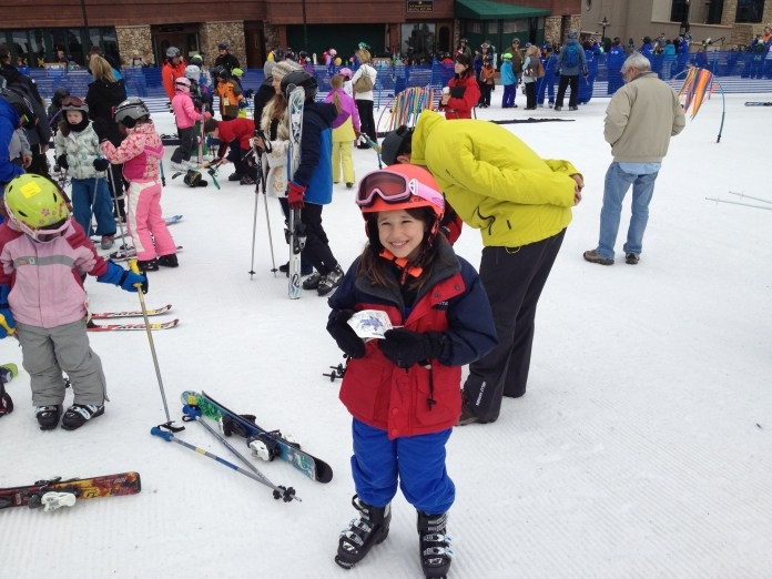 Meg Dillman at Ski school in Beaver Creek