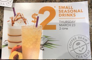 Coffee Bean Drink Sale
