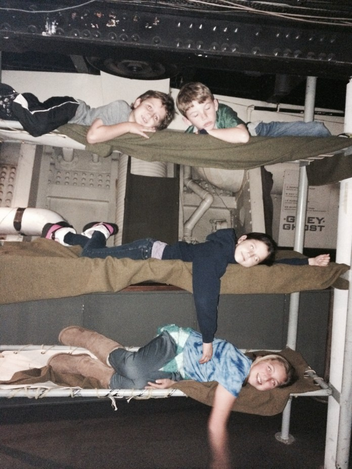 Bunk Beds on the Queen Mary tour in Long Beach