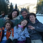 Dillman Family on Sleigh to Beano's Cabin
