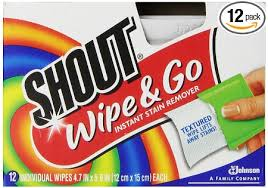 Shout wipe & go