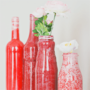 DIY gekleurde flesjes