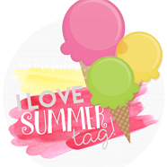 De I love summer tag