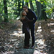Do a date herfstige boswandeling