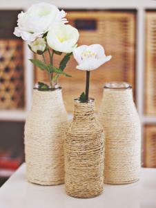 DIY vazen met touw