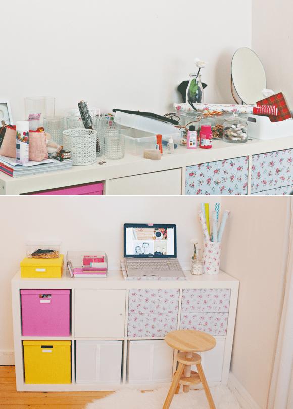 Kamer voor en na
