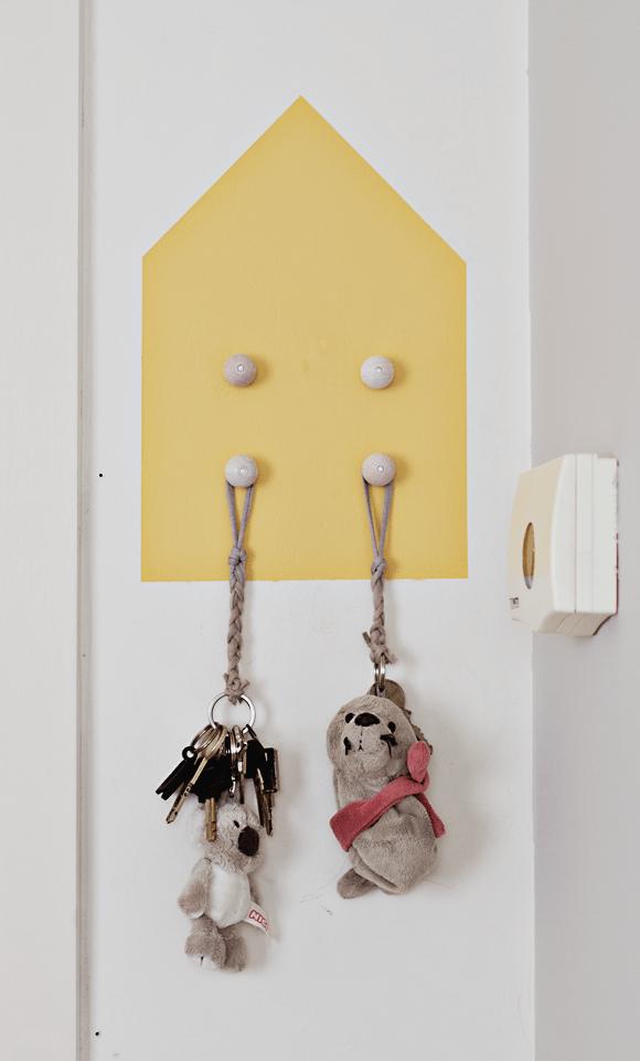 DIY sleutelhouder