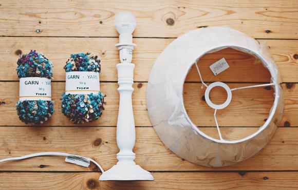 DIY gezellige lampenkap met wol