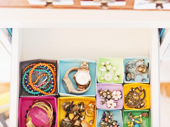 Lade organisatie met DIY doosjes