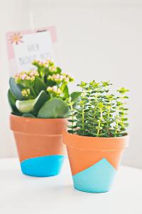 DIY dip dye bloempotjes