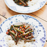 Recept: sperziebonen met paprika en kip