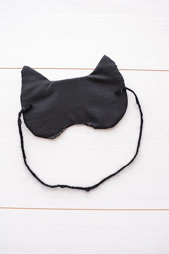 Zwarte kat (Halloween) slaapmasker