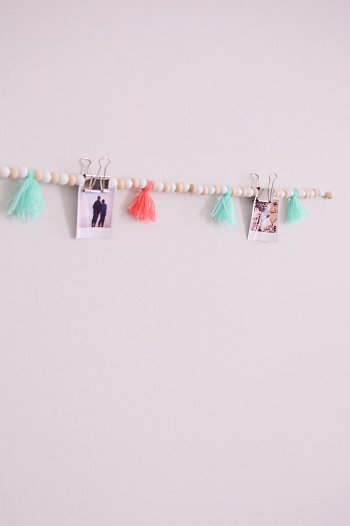 Kralenslinger met tassels én foto's